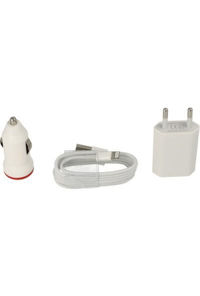Newface Apple iPhone Şarj Aleti Seti + Araç Şarj