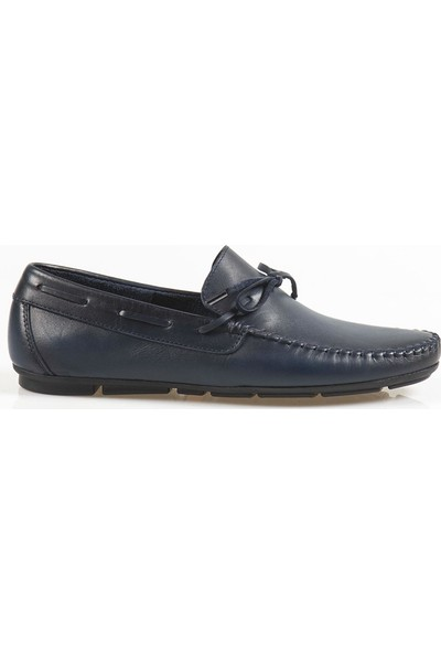 Ayakkabı Çarşı Günlük Lacivert Hakiki Deri Ayakkabı Drc098