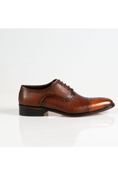 Ayakkabı Çarşı Klasik Bağcıklı Taba Hakiki Deri Ayakkabı Cnr054