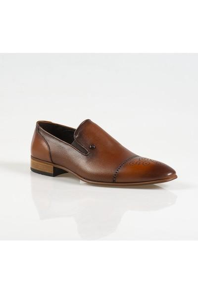 Ayakkabı Çarşı Klasik Bağcıksız Taba Hakiki Deri Ayakkabı Cnr055