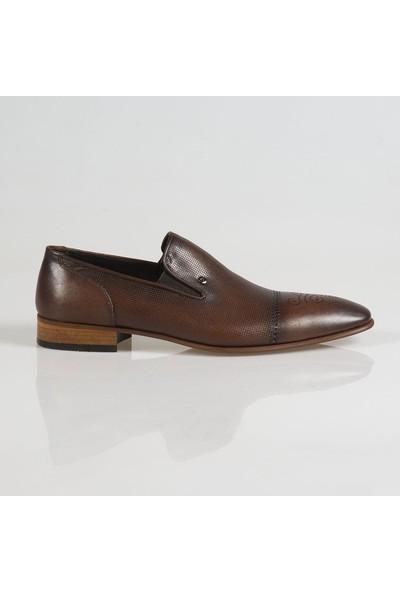 Ayakkabı Çarşı Klasik Kahve Bağcıksız Hakiki Deri Ayakkabı Cnr057