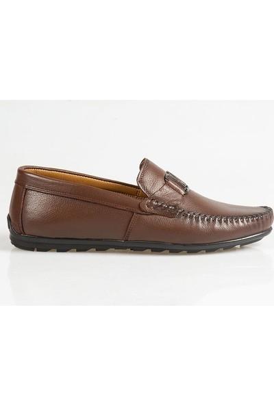 Ayakkabı Çarşı Günlük Bağcıksız Kahverengi Ayakkabı Cnr074