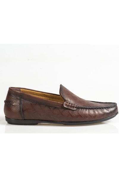 Ayakkabı Çarşı Günlük Bağcıksız Kahverengi Ayakkabı Cnr090