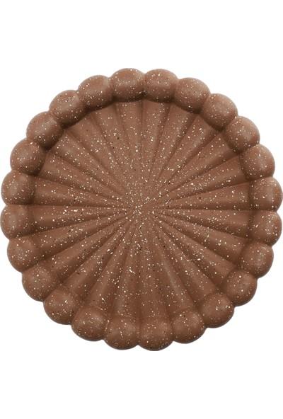 Şan Granit 22CM Döküm Kek Kalıbı Tart Kalıbı Kahve