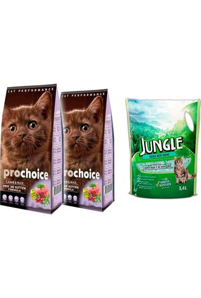 Pro Choice Kitten Yavru 400 g Kuzulu Kedi Maması 2 Ad. + Jungle Silica Kristal Kedi Kumu 3,4 l