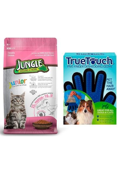 Jungle Tavuklu Yavru Kitten Kedi Maması 1,5 kg + Bobo Touch Kedi Tüy Toplama Eldiveni