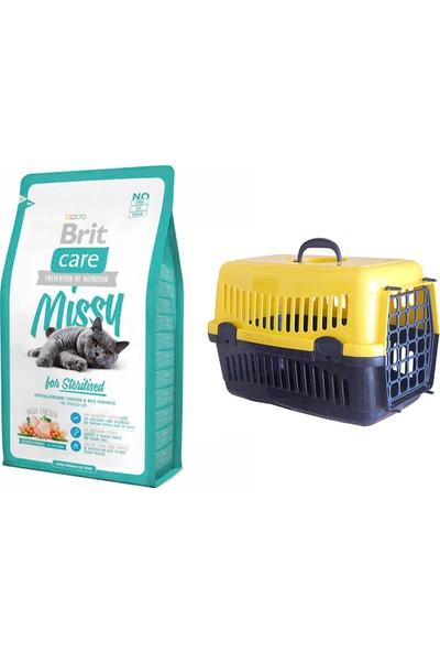 Brit Care Cat Missy Sterilised Tavuklu ve Pirinçli Kısırlaştırılmış Kedi Maması 2 kg + Pet Style Taşıma Çantası 49 cm Sarı