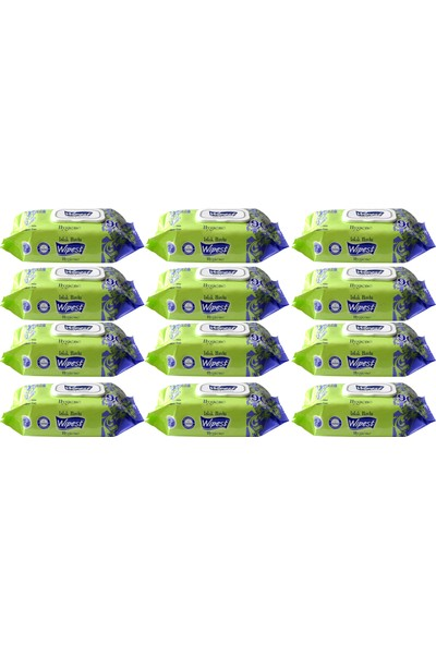 Wipest Islak Havlu Kapaklı Hygiene 90 x 12 Adet