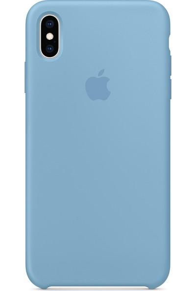 Intouch Apple iPhone XS Max Case Blue Horizon Silikon Kılıf