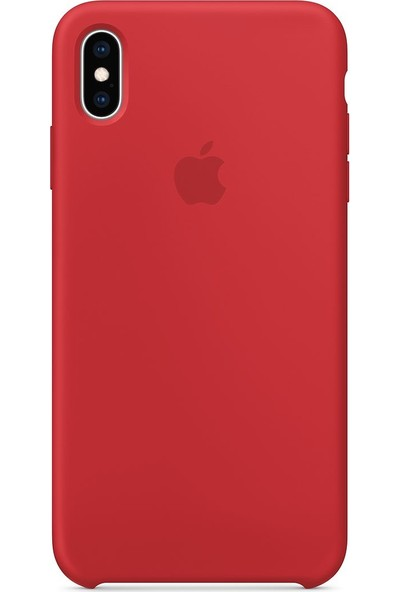 Intouch Apple iPhone XS Max Case Red Silikon Kılıf