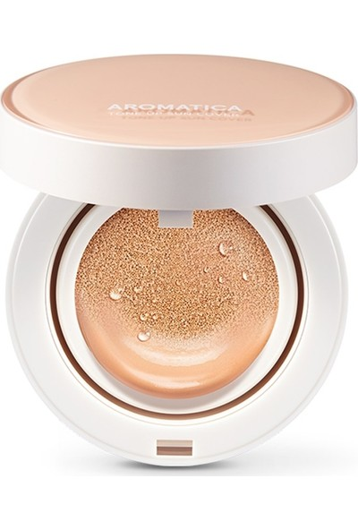 Aromatica Natural Tinted Sun Cover Cushion Light Beige SPF30PA++ Set - Güneş Koruyucu Doğal Cushion
