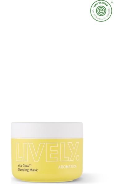 Aromatica Lively Vita Glow™ Sleeping Mask - Işıltı Artırıcı Gece Maskesi