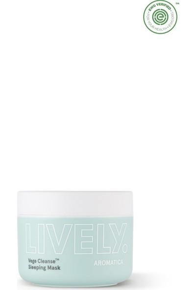 Aromatica Lively Vege Cleanse™ Sleeping Mask - Bitkisel Temizleyici Gece Maskesi