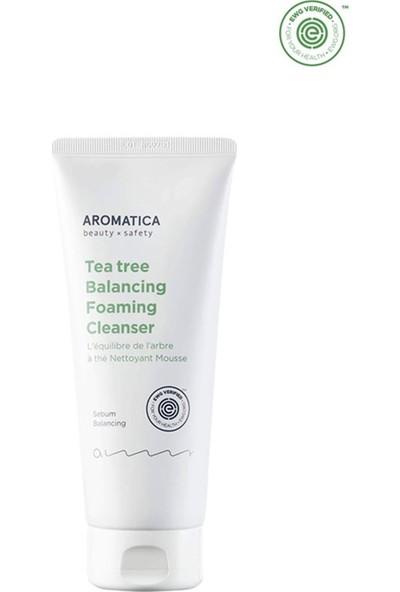 Aromatica Tea Tree Balancing Foam Cleanser - Çay Ağacı Köpük Temizleyici Mini