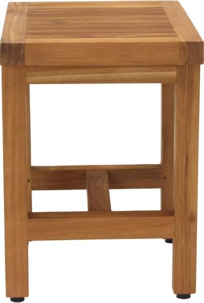 İroko Duş Oturağı Tabure 20 x 40 x 25 cm