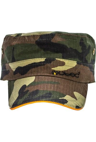 Wubec Castro Avcı Şapka Kamuflaj (Turuncu)