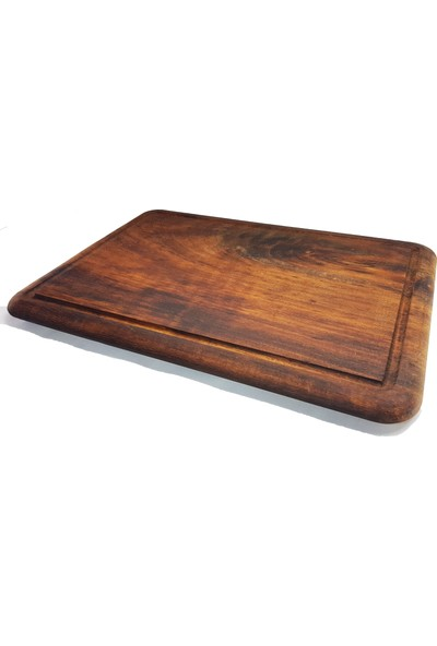 Woodes Ithal Iroko Ahşap Pizza, Et, Pide Sunum Kesme Tahtası Kahverengi