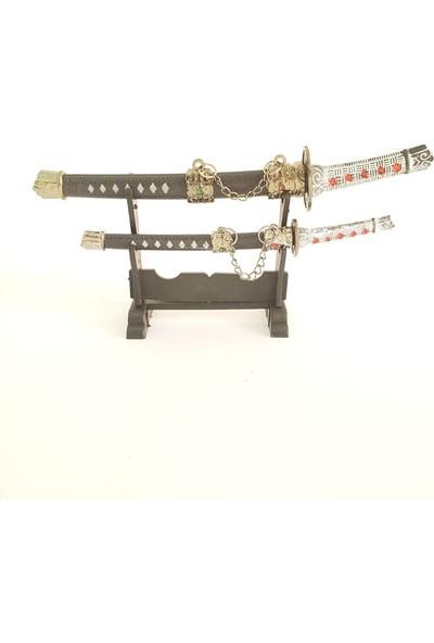 Hediye Elçisi Samuray Kılıcı Şeklinde Zarf Açacağı 2li Siyah