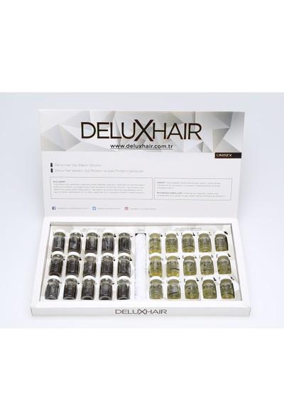 Delux Hair Keratinli Doğal Bitkisel Saç Çıkarma Bakım Serumu 1 Aylık Set