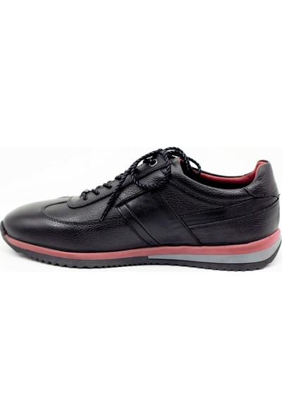F.Marcetti Siyah Hakiki Deri Erkek Ayakkabı 19 851 00