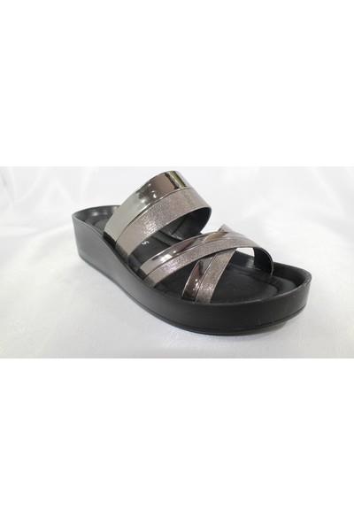 Marine Shoes Platin Kadın Terlik 4005