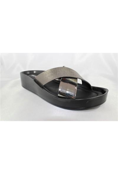 Marine Shoes Gümüş Kadın Terlik 4003