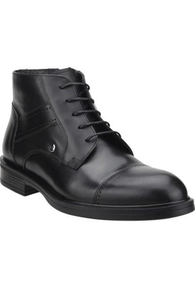 Pierre Cardin 120156 Günlük Deri Erkek Klasik Bot Ayakkabı Siyah