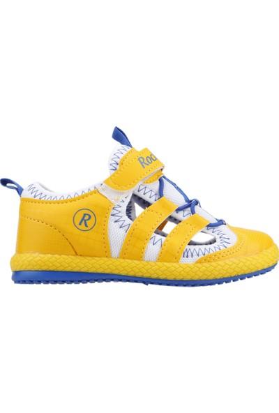Kiko Kids Rocky Günlük Yürüyüş Koşu Erkek Çocuk Spor Ayakkabı Sarı