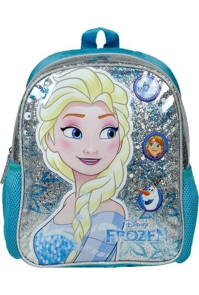 Frozen Elsa Anaokulu Çanta Seti 3 Parça Simli Lisanslı