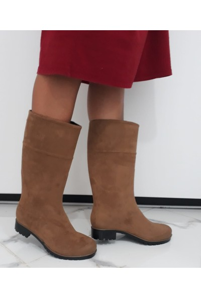 Savana Kadın Soğuk ve Yağmur Geçirmez Alkantra Çizme