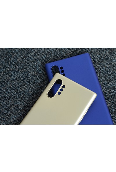 KNY Samsung Galaxy Note 10 Plus Kılıf Ultra İnce Mat Silikon Bordo
