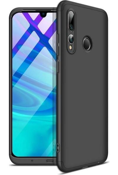 HappyShop Huawei Y9 Prime 2019 Kılıf 3 Parça 360 Ays Kapak Siyah + Cam Ekran Koruyucu