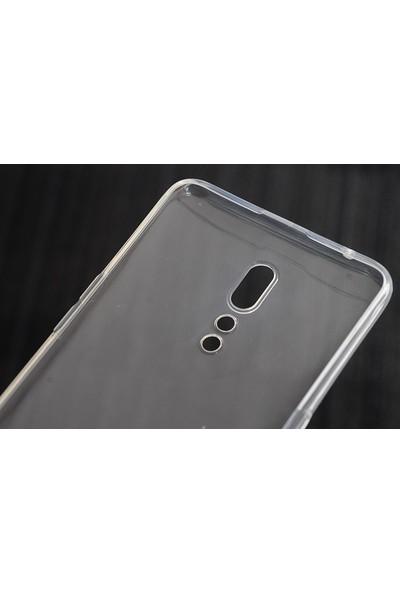 HappyShop OPPO Reno Z Kılıf Ultra İnce Şeffaf Silikon + Cam Ekran Koruyucu