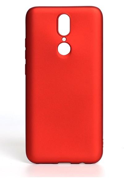 HappyShop Vestel Venus V7 Kılıf Ultra İnce Mat Silikon Kırmızı + Nano Cam Ekran Koruyucu