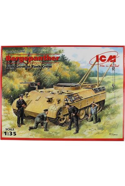Icm 35342 1/35 Bergepanther Alman Tank Maketi Mürettebatlı