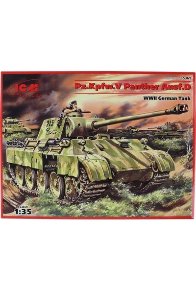 Icm 35361 1/35 WWII Alman Tank Maketi Pz.Kpfw.V Panther Ausf.D