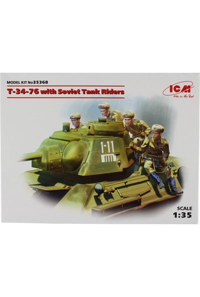 Icm 35368 1/35 T-34-76 Sovyet Tank Maketi Mürettebatlı