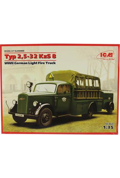 Icm 35403 1/35 WWII Alman Itfaiye Kamyonu Maketi Typ 2,5-32 Kzs 8