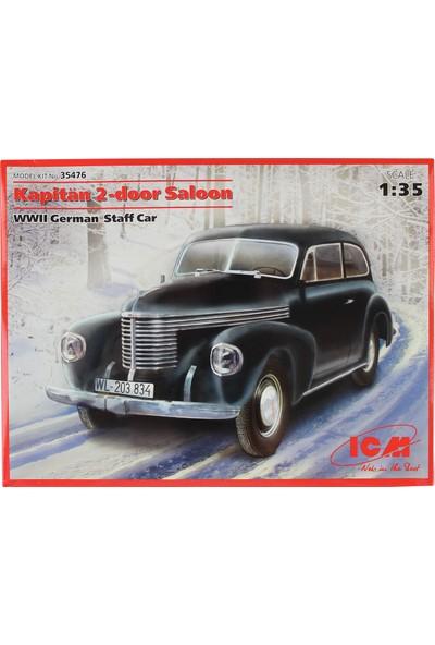 Icm 35476 1/35 WWII Alman Subay Aracı Maketi Kapitan 2-Door Saloon