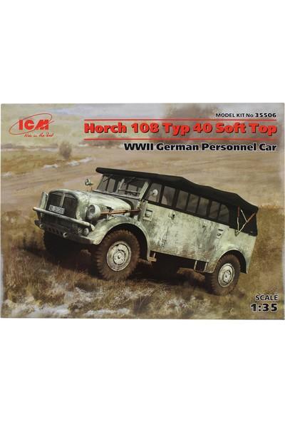 Icm 35506 1/35 WWII Alman Personel Aracı Maketi Horch 108 Typ 40 Soft Top