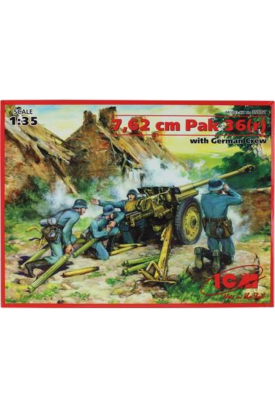 Icm 35801 1/35 7,62 cm Pak 36 Alman Top Maketi Mürettebatlı