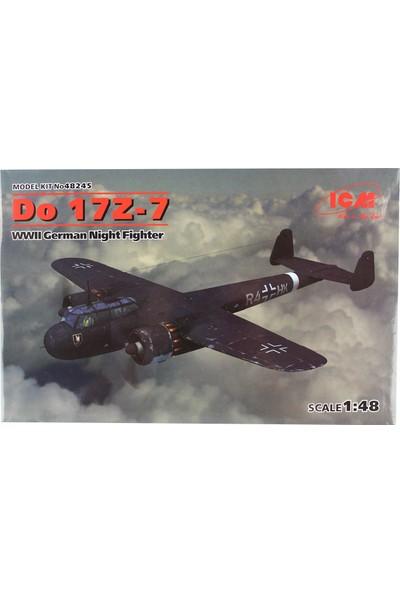 Icm 48245 1/48 WWII Alman Gece Avcısı Uçak Maketi Do 17Z-7