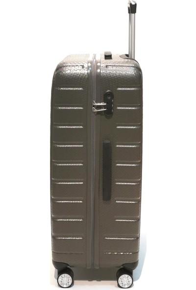 Ehs Orta Boy Valiz 4 Tekerlekli Gri Valiz 5162