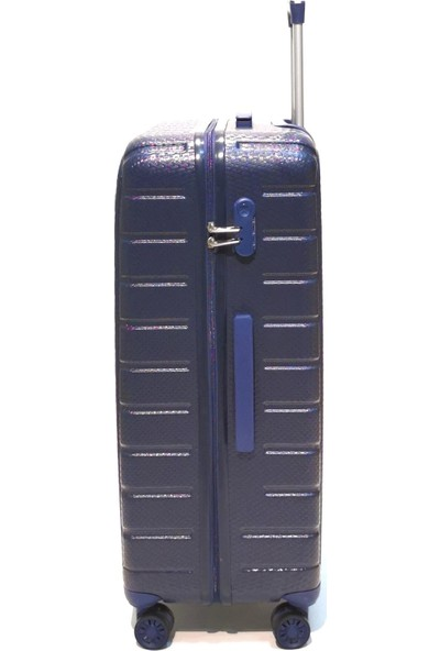 Ehs Orta Boy Valiz 4 Tekerlekli Lacivert Valiz 5162