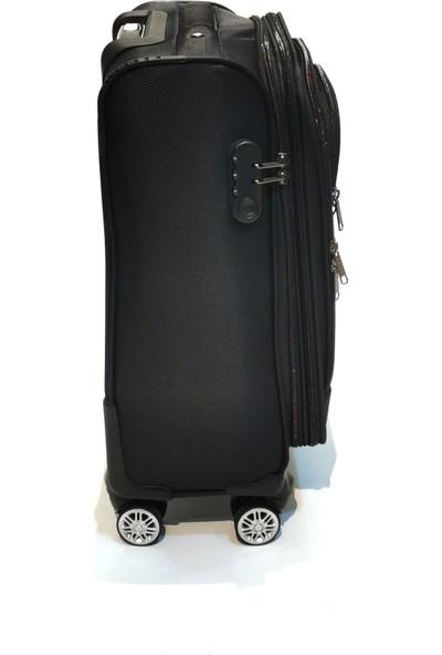 NK Kabin Boy Valiz 4 Tekerlekli Kumaş Siyah NKVLZ-038