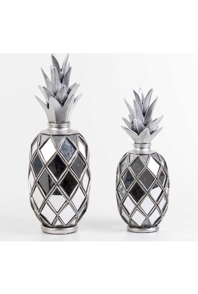 Euro Flora Aynalı Ananas Dekor 2'li Set Lame