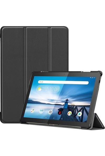 Microcase Lenovo Tab M10 10.1 TB-X605L TB-X605F Tablet Delüx Leather Serisi Standlı Kılıf - Siyah
