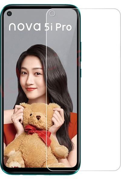 Microcase Huawei Nova 5i Pro Tempered Glass Cam Koruma