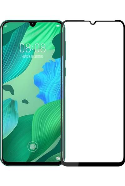 Microcase Huawei Nova 5 - Nova 5 Pro Tam Kaplayan Çerçeveli Tempered Ekran Koruyucu - Siyah