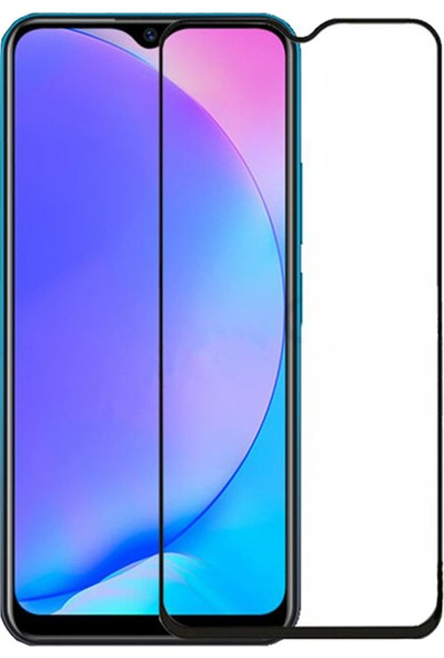 Microcase Oppo Reno Z Tam Kaplayan Çerçeveli Tempered Ekran Koruyucu - Siyah